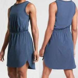 ATHLETA Rincon Stretch Blue Featherweight Dress